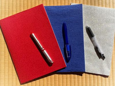 赤、青、銀のノート