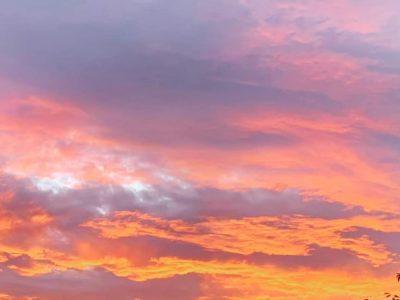 癒しの夕焼け空